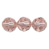 Swarovski Crystal Beads 8mm round (5000) vintage rose (pink) transparent