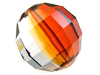 Swarovski Crystal Beads 12mm chessboard (5005) crystal red magma transparent iridescent