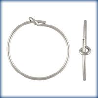 sterling silver 15mm add a bead earhoop silver
