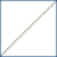 Image sterling silver round link cable Chain 1mm