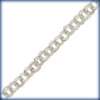 sterling silver double link cable Chain 2.25mm wide