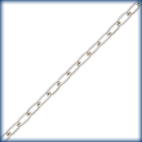 Image sterling silver long oval cable Chain 1.45mm wide
