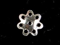 sterling silver 5mm flower bead cap silver