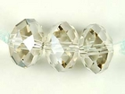 Swarovski Crystal Beads 12mm rondell (5040) crystal silver shade transparent with finish