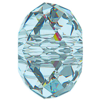Swarovski Crystal Beads 6mm rondell (5040) aquamarine (aqua blue) transparent