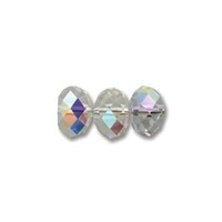 Image Swarovski Crystal Beads 6mm rondell (5040) crystal ab (clear) transparent irides