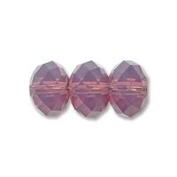 Swarovski Crystal Beads 6mm rondell (5040) cyclamen opal (purple) opalescent