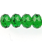Swarovski Crystal Beads 6mm rondell (5040) dark moss green transparent