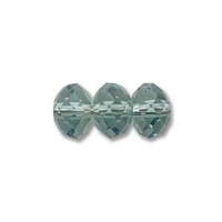 Swarovski Crystal Beads 6mm rondell (5040) erinite (blueish green) transparent