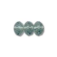 Swarovski Crystal Beads 6mm rondell (5040) erinite (blueish green) transparent