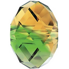 Swarovski Crystal Beads 6mm rondell (5040) fern green topaz blend transparent