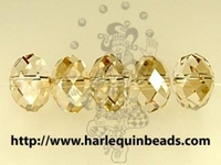 Swarovski Crystal Beads 6mm rondell (5040) crystal golden shadow transparent with finish