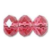 Swarovski Crystal Beads 6mm rondell (5040) indian pink transparent