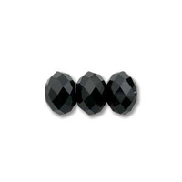 Image Swarovski Crystal Beads 6mm rondell (5040) jet (black) opaque