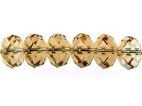 Swarovski Crystal Beads 6mm rondell (5040) light colorado topaz (light brown) transparent