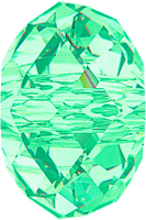 Swarovski Crystal Beads 6mm rondell (5040) light turquoise transparent