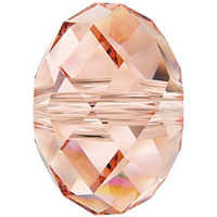 Swarovski Crystal Beads 6mm rondell (5040) rose peach transparent