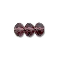 Image Swarovski Crystal Beads 8mm rondell (5040) amethyst (dark purple) transparent