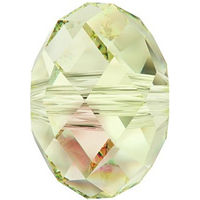Swarovski Crystal Beads 8mm rondell (5040) crystal luminous green transparent with finish