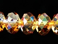 Swarovski Crystal Beads 8mm rondell (5040) crystal copper transparent with finish