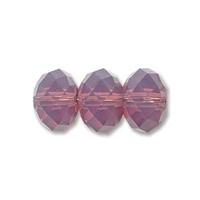 Swarovski Crystal Beads 8mm rondell (5040) cyclamen opal (purple) opalescent
