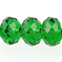 Swarovski Crystal Beads 8mm rondell (5040) dark moss green transparent