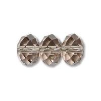 Swarovski Crystal Beads 8mm rondell (5040) greige (grey) transparent