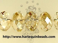 Swarovski Crystal Beads 8mm rondell (5040) crystal golden shadow transparent with finish