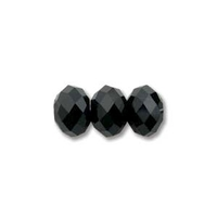 Image Swarovski Crystal Beads 8mm rondell (5040) jet (black) opaque