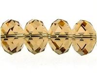 Swarovski Crystal Beads 8mm rondell (5040) light colorado topaz (light brown) transparent