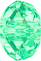 Swarovski Crystal Beads 8mm rondell (5040) light turquoise transparent