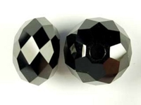 Swarovski Crystal Beads 18mm with 3mm hole large hole rondell (5041) jet (black) opaque