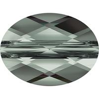 Image Swarovski Crystal Beads 6 x 8mm faceted flat oval (5051) black diamond transpare