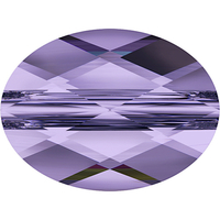 Image Swarovski Crystal Beads 6 x 8mm faceted flat oval (5051) tanzanite transparent
