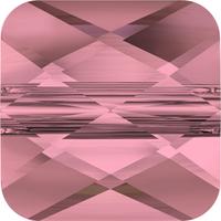 Swarovski Crystal Beads 6mm faceted flat square (5053) crystal antique pink transparent