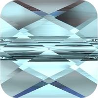 Swarovski Crystal Beads 8mm faceted flat square (5053) aquamarine transparent
