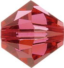 Swarovski Crystal Beads 6mm bicone (5301 and 5328) indian pink transparent