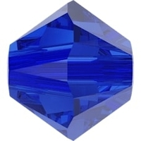 Image Swarovski Crystal Beads 3mm bicone 5328 majestic blue transparent