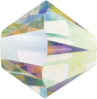 Swarovski Crystal Beads 3mm bicone (5301 and 5328) crystal AB 2X (aurore boreale) transparent double iridescent