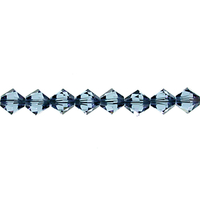 Swarovski Crystal Beads 3mm bicone 5328 denim blue transparent