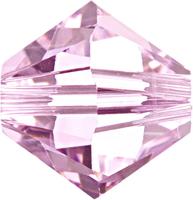 Swarovski Crystal Beads 3mm bicone 5328 rosaline (pale pink) transparent