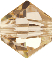 Swarovski Crystal Beads 3mm bicone 5328 silk (light peachy pink) transparent