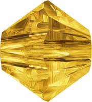 Swarovski Crystal Beads 3mm bicone 5328 sunflower (yellow) transparent