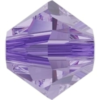 Image Swarovski Crystal Beads 4mm bicone 5328 alexandrite (color changing) transparent