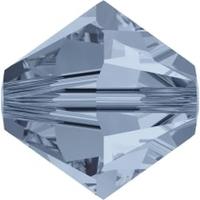 Image Swarovski Crystal Beads 4mm bicone 5328 denim blue transparent