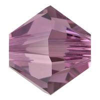 Image Swarovski Crystal Beads 4mm bicone 5328 iris transparent