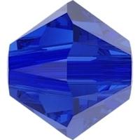 Image Swarovski Crystal Beads 4mm bicone 5328 majestic blue transparent