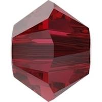 Image Swarovski Crystal Beads 4mm bicone 5328 scarlet transparent