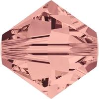 Swarovski Crystal Beads 4mm bicone 5328 blush rose transparent
