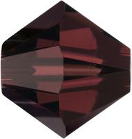 Swarovski Crystal Beads 4mm bicone 5328 burgundy (wine red) transparent